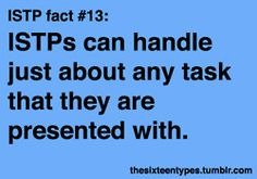 The Sixteen Types. ISTP. Very skilled.