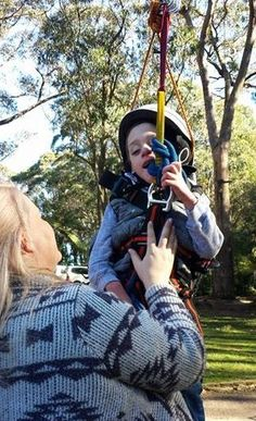 Cerebral palsy didn't stop Dexter from trying the flying fox! He loved the freedom! He escaped his wheelchair and flew through the air. Awesome!