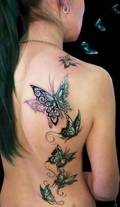 Artist - Dimon Taturin/Tattoos/Butterflies/Love this!
