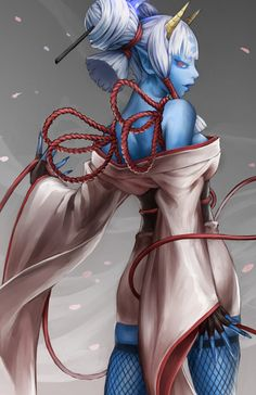 Drow Orc Sorceress Magic Oni Bloodline
