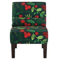 Armless Chair Holly Evergreen - Skyline Furniture