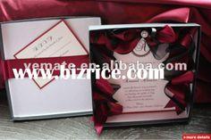 Upscale Wedding Invitations | Luxury paper cardboard boxes for wedding invitations,boxed wedding ...