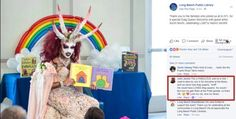 Drag Queen In Satanic Garb with Horns Reads to Little Kids at Michelle Obama Public Library in Long Beach