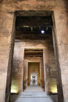 Edfu, Temple of Horus, interior. Egypt.