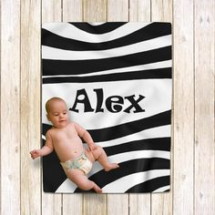 Alex baby boy Personalized blanket Zebra black and white Baby Blanket Size, Minky Baby Blanket, Baby Boy Blankets, Blanket Sizes, Baby Boys, Baby Boy Gifts, Baby Shower Gifts, Personalised Blankets, Custom Bags