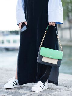 These Are the Best Sneakers to Wear With Spring Dresses via @WhoWhatWear