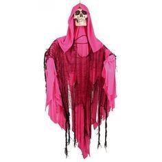 Bewegend decoratie skelet roze. Deze pop kunt u ophangen ter decoratie en wordt…