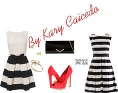 """Rayas"" by kary-caicedo on Polyvore"