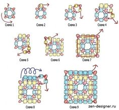 Square bead pattern