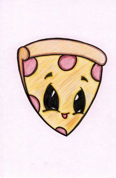Pizza Cartoon Pizza CartoonInkImagined SPRING SALE Cute Pizza Drawing Each drawing is created to order. If you do not see an animal or design you are interested in please feel free to click the. Cute Food Drawings, Cute Cartoon Drawings, Cute Kawaii Drawings, Cool Art Drawings, Pencil Art Drawings, Art Drawings Sketches, Sketch Art, Disney Drawings, Cartoon Art