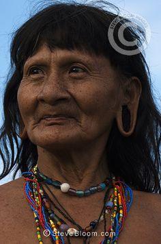 Huaorani Indians, Yasuni National Park, Amazon rainforest, Ecuador, South America.