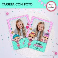 LOL: tarjeta con foto Event Themes, Lol Dolls, Holidays And Events, Party, Patterns, Tips, Texts, 21st Invitations, Digital Invitations