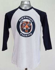 3cb43ecdc91 Detroit Tigers Raglan Shirt Logo triblend 3 4 sleeve unisex 1984 World  Series Tigers Fan Gift USA made Gift For Dad Opening Day 2018