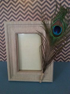 Peacock picture frame by WhatTheCraft907 on Etsy