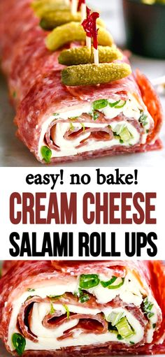 Refreshing, meaty, and filled with cream cheese salami roll ups. appetizers cream cheese Salami Cream Cheese Roll Ups Low Carb Recipes, Cooking Recipes, Healthy Recipes, Roll Ups Recipes, Protein Recipes, Kitchen Recipes, Clean Eating Snacks, Healthy Eating, Cream Cheese Roll Up