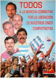 Fidel Castro signed poster promoting a march for the liberation of 5 compatriots. #cuba #fidelcastro #castro #auction #memorabilia