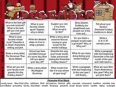 December and Winter Writing Prompt Calendar ~ {Common Core Standards} 2nd Grade Writing, Kindergarten Writing, Kids Writing, Teaching Writing, Writing Paper, Writing Activities, Writing Ideas, Teaching Tools, Teaching Ideas