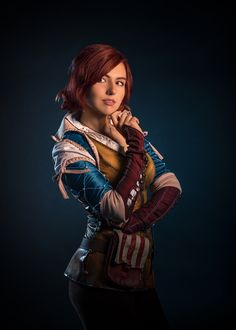 Triss - The Witcher.Cosplay by Stella Papazova. Witcher Triss, The Witcher 3, Video Game Characters, Fantasy Characters, Wild Hunt, God Of War, Magic The Gathering, World Of Warcraft, Great Books
