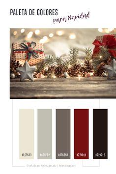 Paleta de colores inspirada en la Navidad para tus diseños. Esta paleta de color puedes usarla para tu marca y para tu feed de Instagram o simplemente para decorar tu casa esta Navidad. Christmas color palette. #rojo #Christmas #Navidad #design #colors #colortheme #colorscheme #colorpalette #colorinspiration #Christmas color