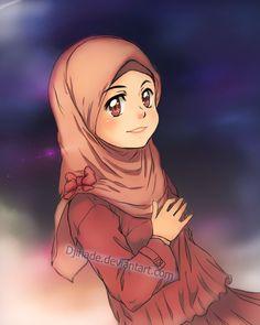 proud young muslimah by Djihade.deviantart.com on @deviantART Hijab Drawing, Drawing S, Islamic Cartoon, Girl Hijab, Muslim Girls, Cartoon Art, Cute Drawings, Cute Girls, Cool Art