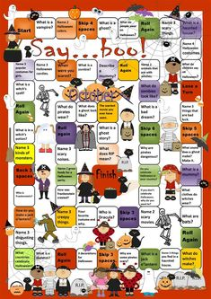 Halloween Boardgame worksheet - Free ESL printable worksheets made by teachers
