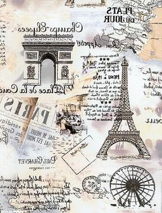 Great Paris collage image, reversed and ready for use with Artisan Enhancements Transfer Gel! Decoupage Vintage, Decoupage Paper, Vintage Paper, Vintage Art, Images Vintage, Vintage Pictures, Image Paris, Etiquette Vintage, Paris Wallpaper