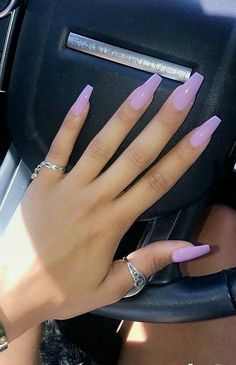 Acrylic Gel Nail Art Design Ideas For Summertime 2018 and get inspired! Acrylic Gel Nail Art Design Ideas For Summertime 2018 and get inspired! Professionally performed and how to shape nails coffin pattern on nails can be done not only with the help of Summer Acrylic Nails, Best Acrylic Nails, Purple Acrylic Nails, Acrylic Art, Acrylic Nail Designs For Summer, Colourful Acrylic Nails, Acrylic Nail Designs Coffin, Purple Ombre Nails, Lilac Nails