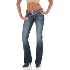 Rock 47 by Wrangler Women's Ultra Low Rise Boot Cut Jeans