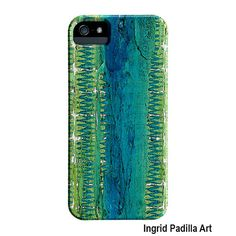Geometric Blue iPhone 5 Case iPhone case Turquoise by ingridsart