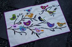 Chasing Cottons: Quilted Bird wall art Tutorial.....made with a Go Baby Accuquilt die cutter for the appliques