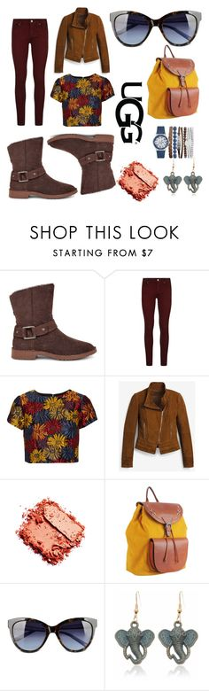 """""""The New Classics With UGG: Contest Entry"""" by apeachick ❤ liked on Polyvore featuring UGG, Paige Denim, Alice + Olivia, White House Black Market, Most Wanted, Love Moschino, Jessica Carlyle and ugg"""