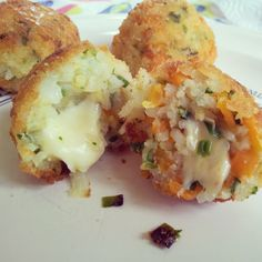 Rice and cheese dumplings. Irresistible!