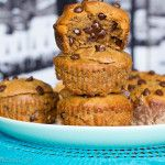 Healthy protein flourless peanut butter choc chip blender muffins - and all you need is 8 simple ingredients Protein Desserts, Protein Brownies, Protein Snacks, Protein Cake, Protein Muffins, Healthy Muffins, Healthy Protein, Protein Cookies, Healthy Sweet Treats