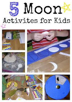 Five Moon Activities for Kids to make and do at home.
