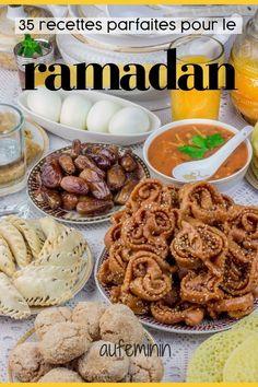 Ces recettes traditionnelles ou plus modernes sont parfaites pour casser le jeûne pendant le Ramadan. Laquelle préférez-vous ? /// #ramadan #recetteramadan #dessertramadan #chorba #souperamadan #patisserie #cuisineorientale #aufeminin Easy Smoothie Recipes, Good Healthy Recipes, Healthy Drinks, Healthy Snacks, Healthy Smoothie, Halal Recipes, Iftar, Plats Ramadan, Crepes
