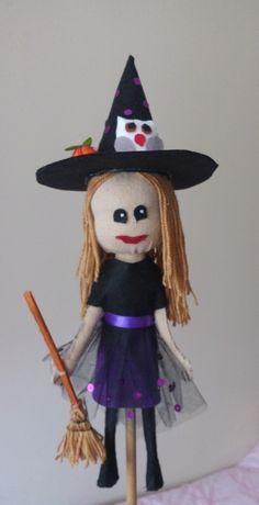 Okul öncesinde cadı çomak kuklası:)