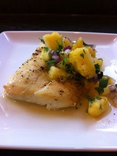 Cedar Planked Halibut with Fresh Pineapple Salsa | Recipe Connoisseur