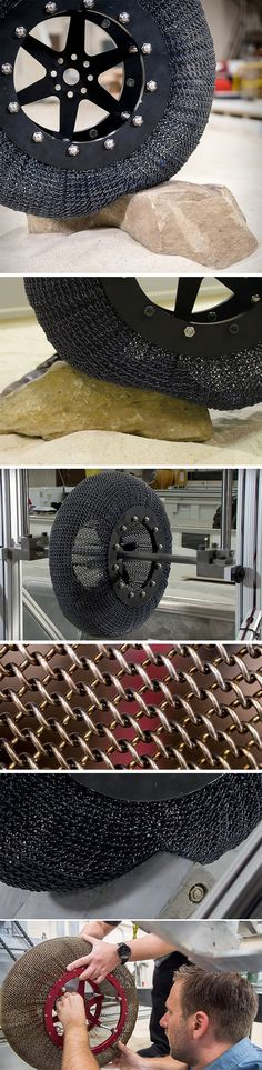 The year is 2017 and NASA have just reinvented the wheel. Glenn Research engineers have just unveiled a new super-elastic tire constructed from nickel titanium, a shape memory alloy able to flex, conform, and then return to its original shape even after traversing the most punishing of terrains. This exciting new tire comes in anticipation of the Mars 2020 launch/expedition.