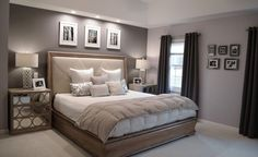 Ben Moore Violet Pearl - Modern Master Bedroom Paint Colors Ideas Beige against gray