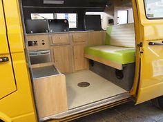 Campervan interior kitchen cabinets and wardrobe set for VW Type 25 Wardrobe Sets, Campervan Interior, Stacked Washer Dryer, Kitchen Interior, Bunk Beds, Vw, Kitchen Cabinets, Home Appliances, Type
