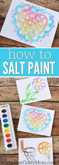 We love Arts and Crafts for Kids and Salt Painting does not disappoint. Salt Art is so pretty and kids will love glue painting. It's inexpensive and so fun! and crafts for boys Salt Painting - Learn how to make Salt Art with your kids! Summer Arts And Crafts, Easy Arts And Crafts, Fun Crafts For Kids, Toddler Crafts, Craft Projects For Kids, Arts And Crafts For Teens, Kids Fun, Crafts For Camp, Art Project For Kids