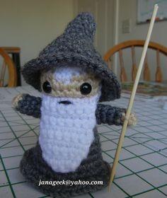 Gandalf the Gray Amigurumi Crochet Doll on Etsy, $24.95 (pattern also available)