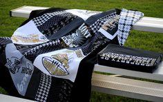 Stadium blanket + Bag/cushion tutorial!