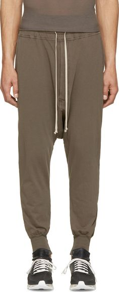 Rick Owens Drkshdw Brown Sarouel Prisoner Pants