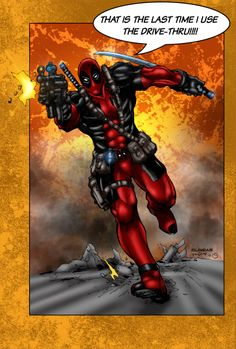 Deadpool by MarcBourcier.deviantart.com on @deviantART