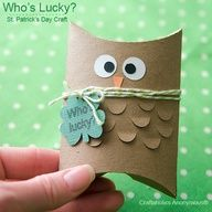 Adorable St. Patricks Day #owl with free printable!