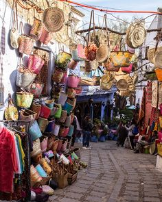 Straw bags in Chefchaouen