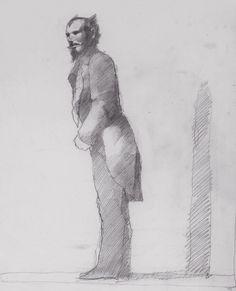 Brad Holland - Sketchbooks Street Magician/Prince Street, New York City