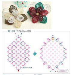 Schemas for netted flower ~ Seed Bead Tutorials