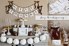 The TomKat Studio Party Shop - Pretty Printable Parties and Sweet Party Supplies - Thanksgiving printables